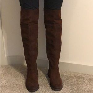 Frye Shirley suede over the knee boots